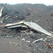 Etna Nord: eruzione del 2002, casa sepolta dalla lava